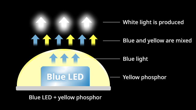 Mechanism of white light
