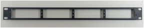 1U Rack Mount Plate - 4 TAPs 外観